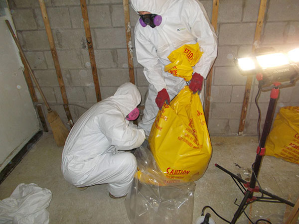 hazmat and asbestos removal procedures