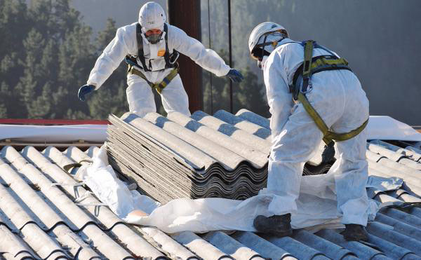 asbestos removal services- professionals-working